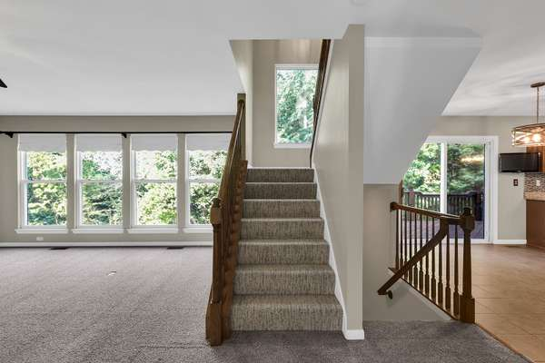 Large Picture Window in Staircase