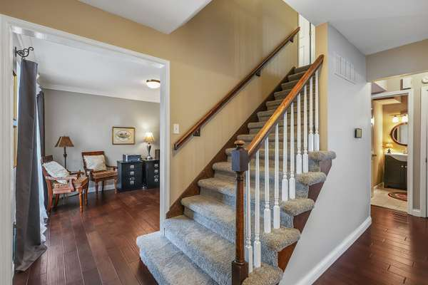 Wood Spindled Staircase