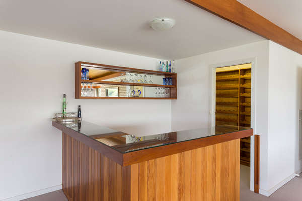 Red cedar bar and cellar in the River Room
