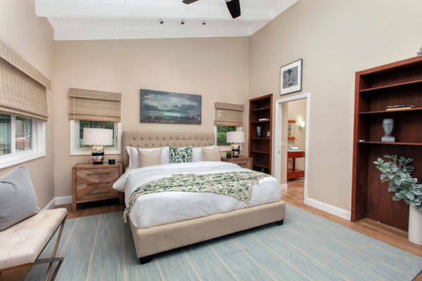 First level master bedroom