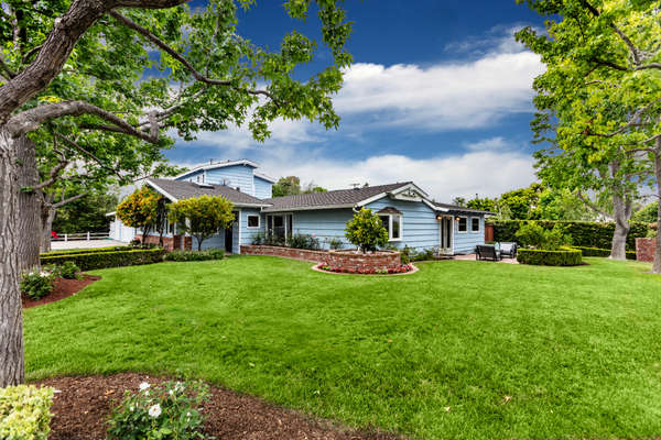 Home sits on an amazingly, very large, private corner lot