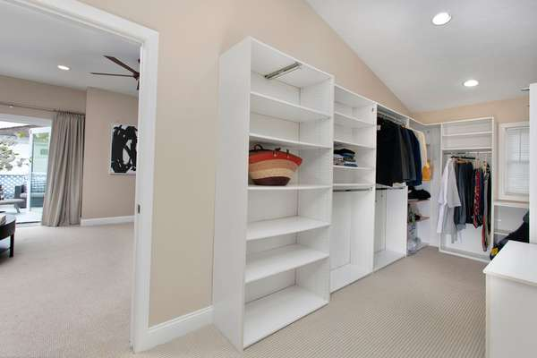 Very large his and hers closets